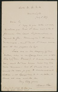 Letter, July 5, 1877, Albin Pike to James Jeffrey Roche