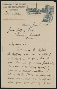 Letter, June 7, 1907, Harold MacGratt to James Jeffrey Roche