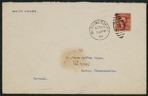 Envelope, October 29, 1904, Theodore Roosevelt to James Jeffrey Roche