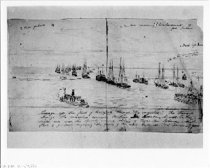 Gunboats Commencing Bombardment of Fort Bartow
