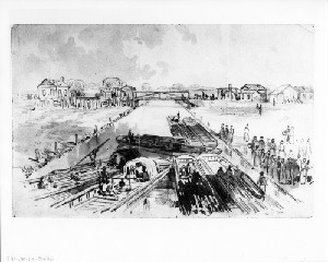 View of the Appomatox Canal (Siege of Petersburg)