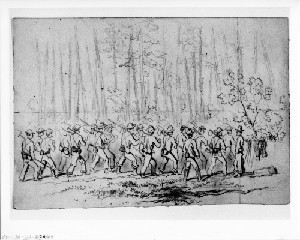 Sketches near the Weldon Railroad (Siege of Petersburg)
