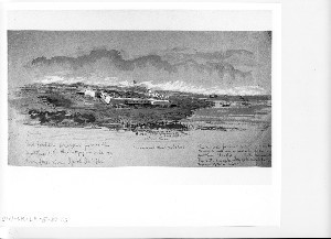 """Fort Jackson Sketched from the Masthead of the """"Cayuga"""""""