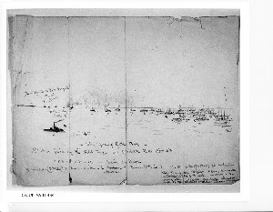 The Opening of the Ball- 1st Gun fired by a Rebel Tug at 5 O'Clock