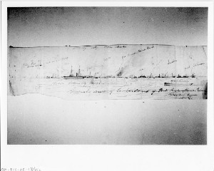 General View of Bombardment of Fort Bartow, Roanoke Island, North Carolina