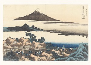 Dawn at Isawa in Kai Province from the series Thirty-six Views of Mount Fuji, woodblock print, ink and color on paper