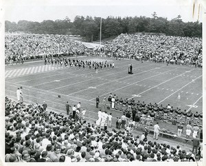 Alumni Stadium: dedication with Boston College band