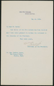 Letter, May 20, 1904, Theodore Roosevelt to James Jeffrey Roche