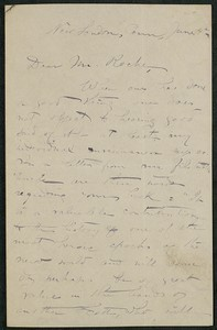 Letter, approximately 1880-1900, Edith M. Thomas to James Jeffrey Roche