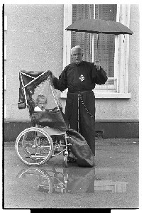 Brother Paul McKeown, CP, Crossgar Monastery, inventor of wheelchair canopy