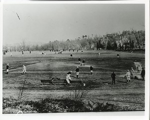 Alumni Field during baseball practice