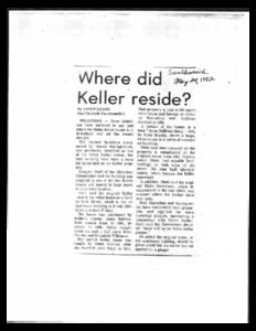 Articles about the Helen Keller and Annie Sullivan house in Wrentham Massachusetts