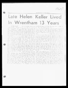 Collection of articles about Helen Keller.