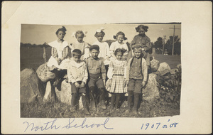North School students; corner of North Elm and Copeland streets
