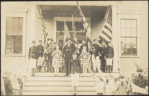 Civil War Veterans and Boys Brigade, Center school, West Center Street