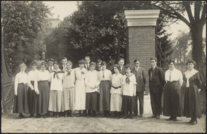 Howard High School gates at West Center Street showing the class of 1918; 70 Howard Street
