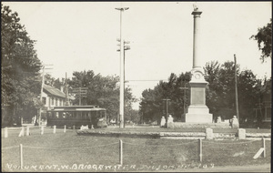 Monument and trolley car