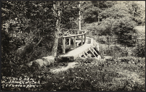 Side view of old dam