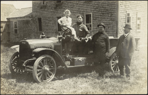Automobile on a farm