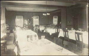 Dining room in Drury Hall