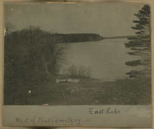 Canoe on East Lake, Halifax, Massachusetts