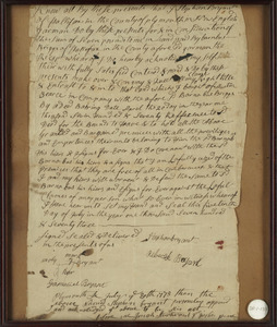 1773 Deed. Halifax, Massachusetts