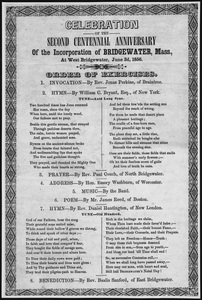 Celebration of the second Centennial Anniversary of the incorporation of Bridgewater, Mass