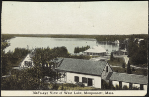 Bird's-eye View of West Lake, Monponsett, Halifax, Massachusetts