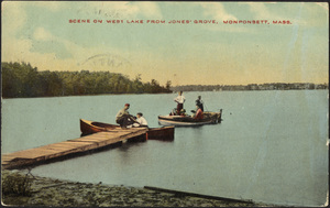 Scene on West Lake from Jones' Grove, Monponsett, Halifax, Massachusetts
