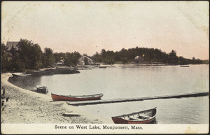 Scene on West Lake, Monponsett, Halifax, Massachusetts