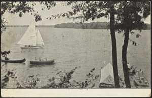 Boating on East Lake, Halifax, Massachusetts