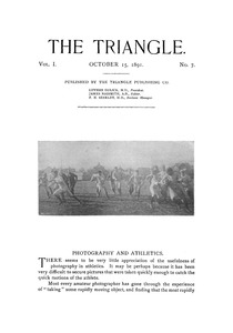 The Triangle, October, 1891