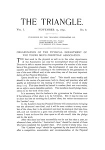 The Triangle, November, 1891