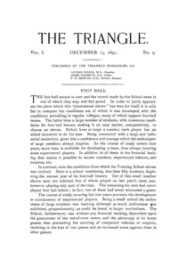 The Triangle, December, 1891
