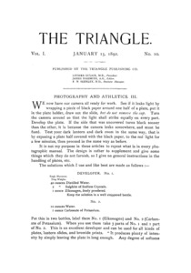 The Triangle, January, 1892