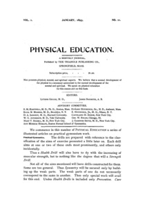 Physical Education, January, 1893