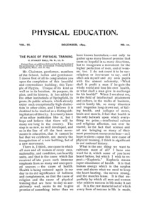 Physical Education, December, 1894