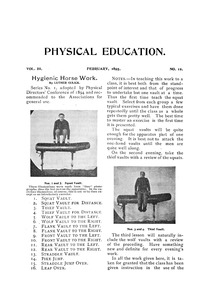 Physical Education, February, 1895