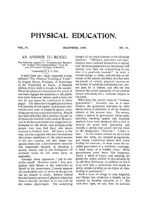 Physical Education, December, 1895