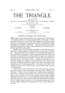 The Triangle, February, 1891