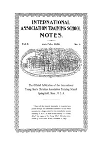 The International Association Training School Notes (vol. 5 no. 1), January and February, 1896