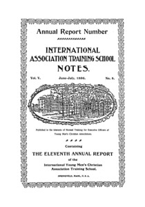 The International Association Training School Notes (vol. 5 no. 5), June and July, 1896