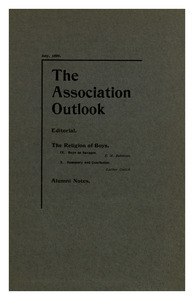 The Association Outlook (vol. 8 no. 9), July, 1899