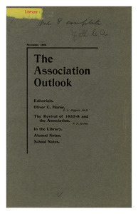 The Association Outlook (vol. 8 no. 1), November, 1898