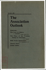 The Association Outlook (vol. 9 no. 1), November, 1899
