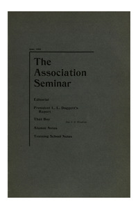 The Association Seminar (vol. 10 no. 8), June, 1902
