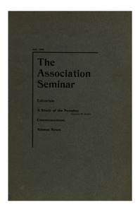 The Association Seminar (vol. 10 no. 9), July, 1902