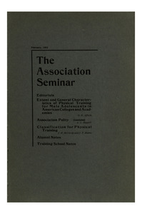 The Association Seminar (vol. 10 no. 4), February, 1902