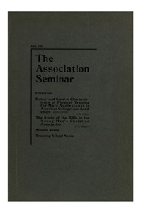 The Association Seminar (vol. 10 no. 6), April, 1902