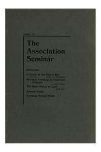 The Association Seminar (vol. 10 no. 2), December, 1901